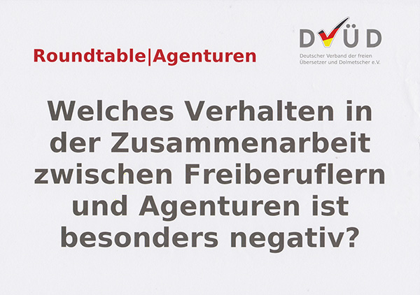 Roundtable|Agenturen, Leitfrage 2