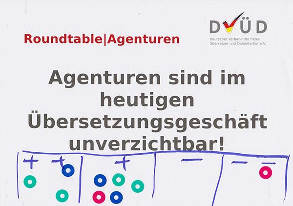 Roundtable|Agenturen, Leitfrage 1