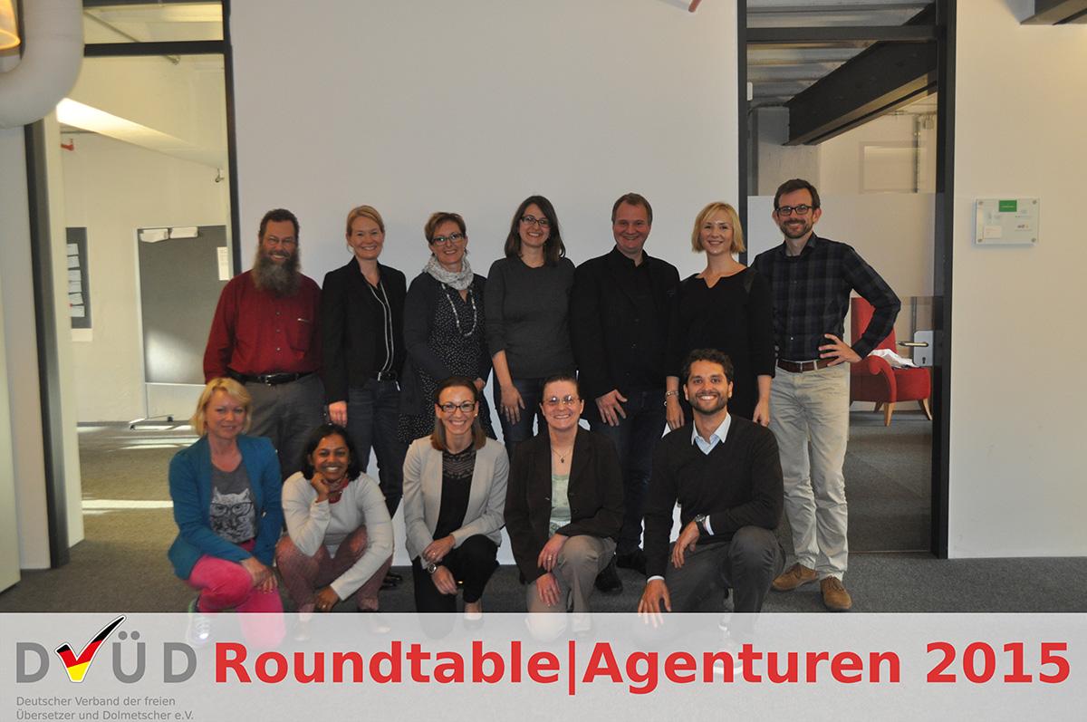 Gruppenfoto Roundtable|Agenturen