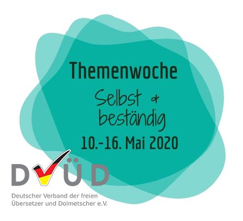 Logo zur DVÜD-Themenwoche Selbst & beständig von Mai 2020